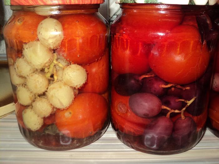 виноградом Рецепт маринованных помидор с