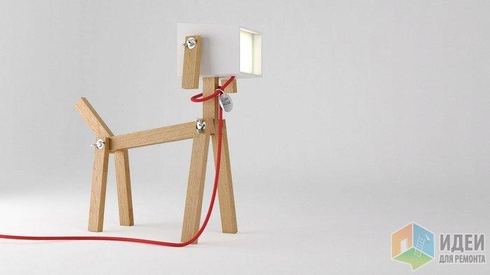 Светильник в виде собаки, декоративные светильники