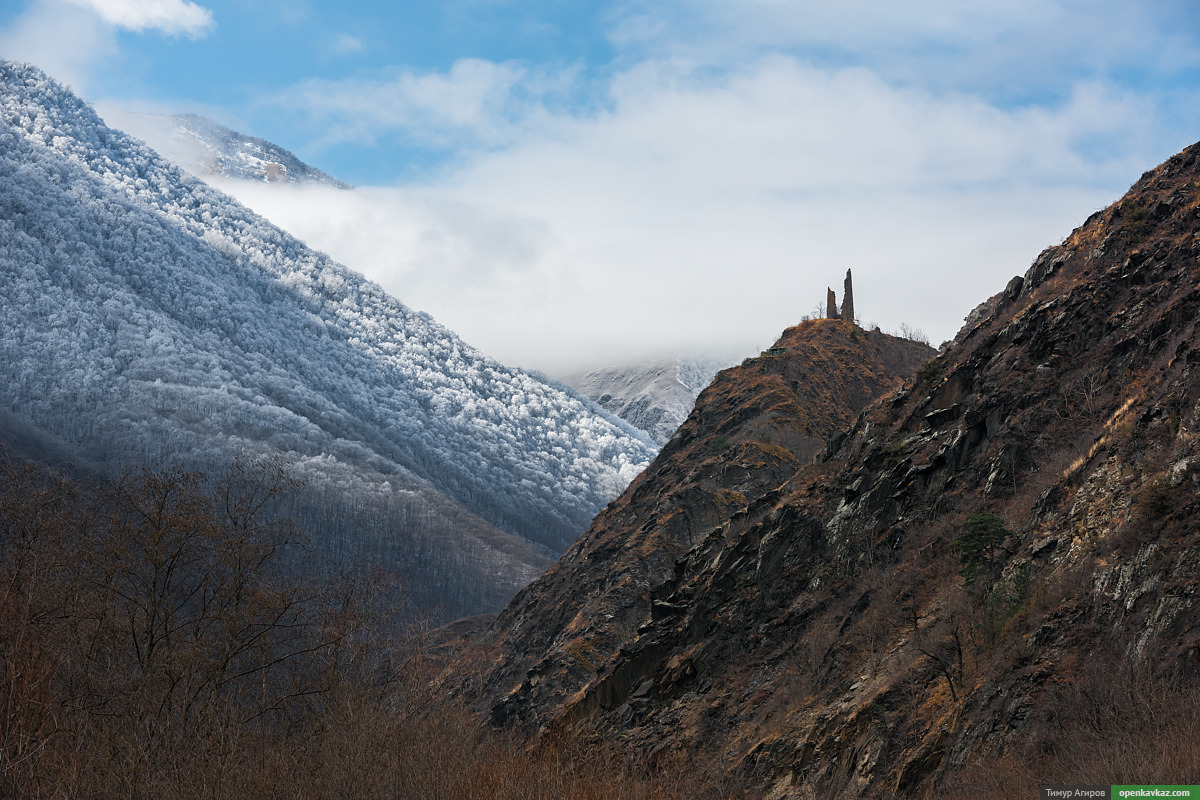 Путешествие в горах зимней Чечни.  2015 г