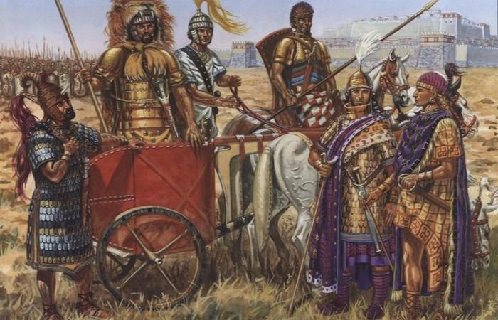 Хеты создали конституцию и первыми начали использовать колесницы.