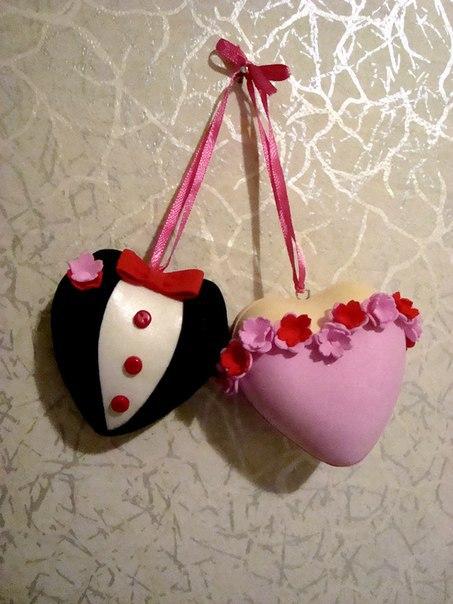 Валентинки - сердечная пара.