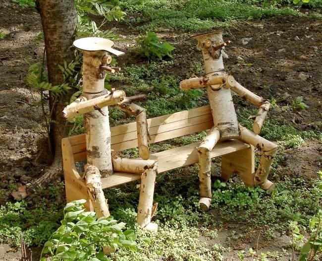 Деревянные фантазии для дачи своими руками 83
