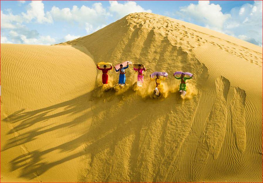 Красивые песчаные дюны во Вьетнаме