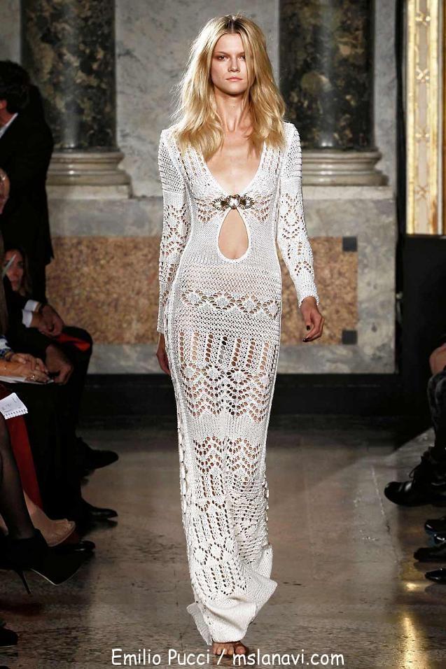 Ажурное вязаное платье Emilio Pucci