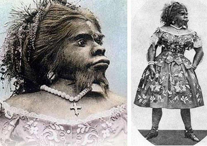 Бородатая женщина Юлия Пастрана. «Цирк уродов»: Страшное зрелище (фото)
