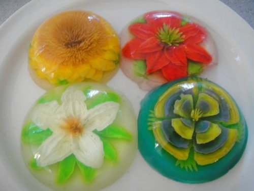 Как сделать цветы желатин