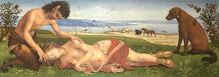 Сатир, оплакивающий нимфу. Пьеро ди Козимо.