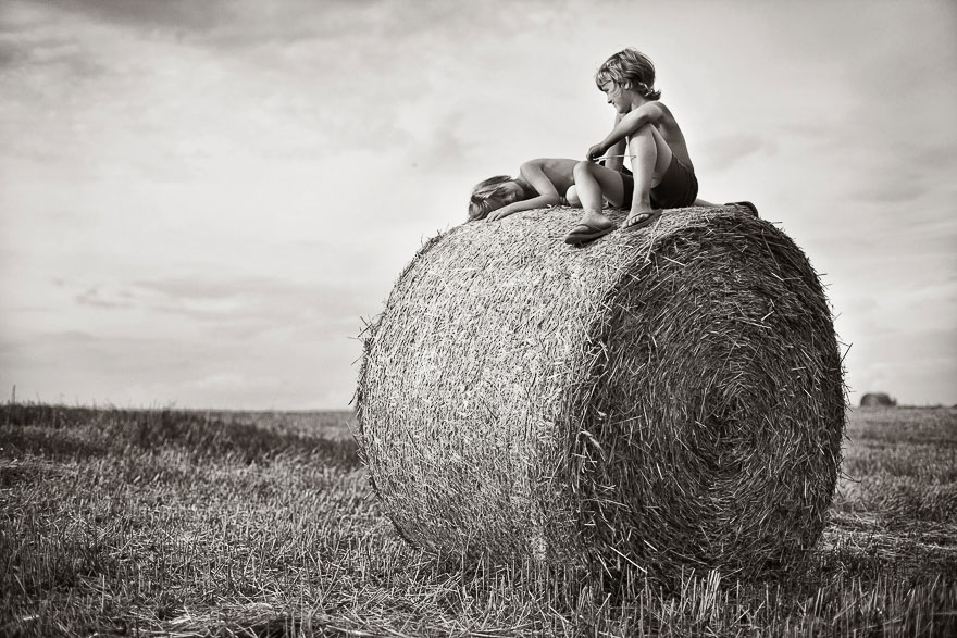 Летние каникулы в польской деревне - чёрно-белые фото-7
