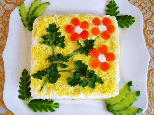 """Праздничный салат """"Курочка в апельсине"""""""