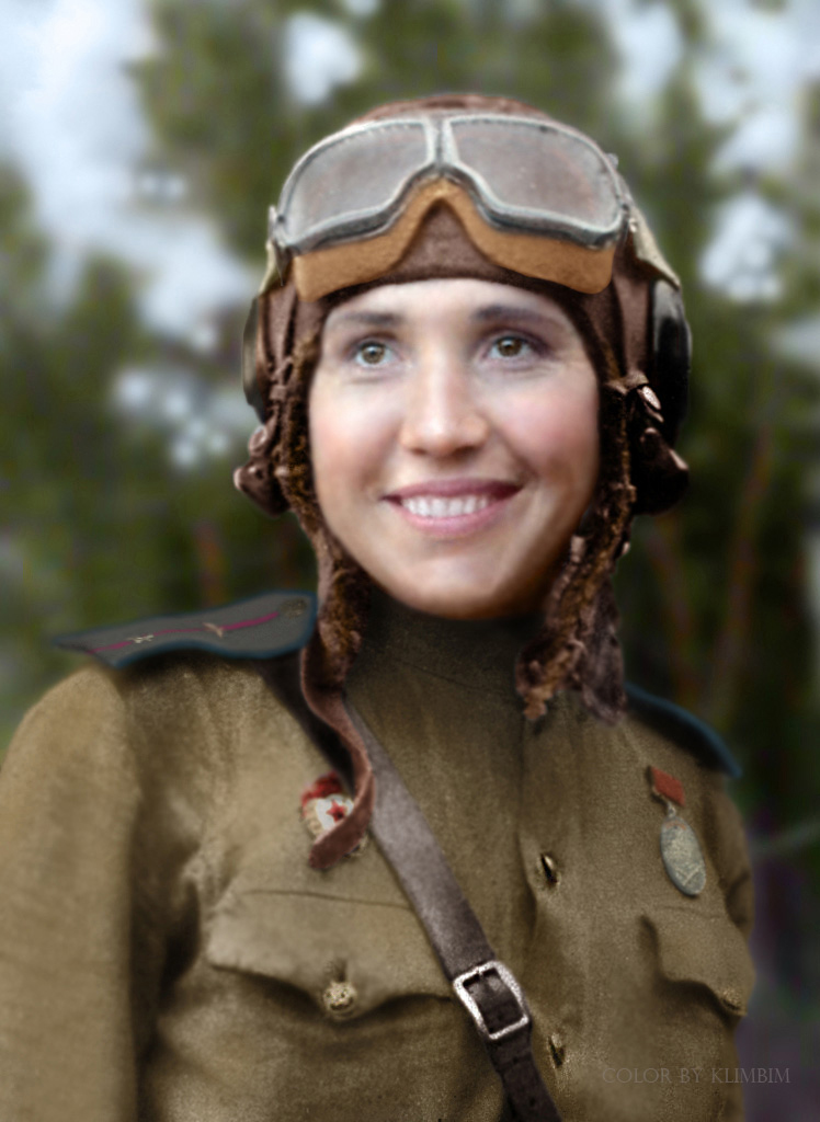 Fighter pilot Antonina Lebedeva