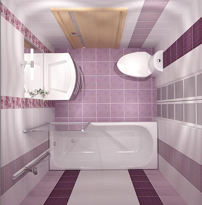 Плитка для ванной комнаты дизайн для маленькой площади 3 кв