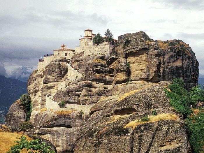 Фото Монастыри Метеоры, Греция. 08 (700x525, 108Kb)