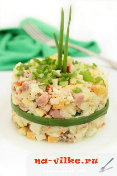 Рецепт вкусных салатов с с ветчиной и сыром