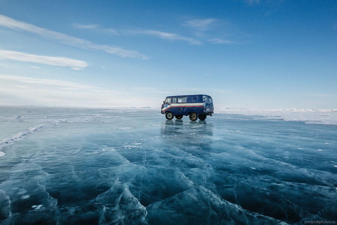 Доставка почты на крайний север по льду Лены (75 фото)