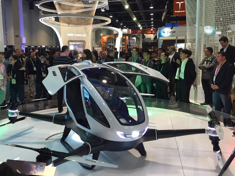 EHang 184 - летающее такси из Китая. авто, наука, транспорт