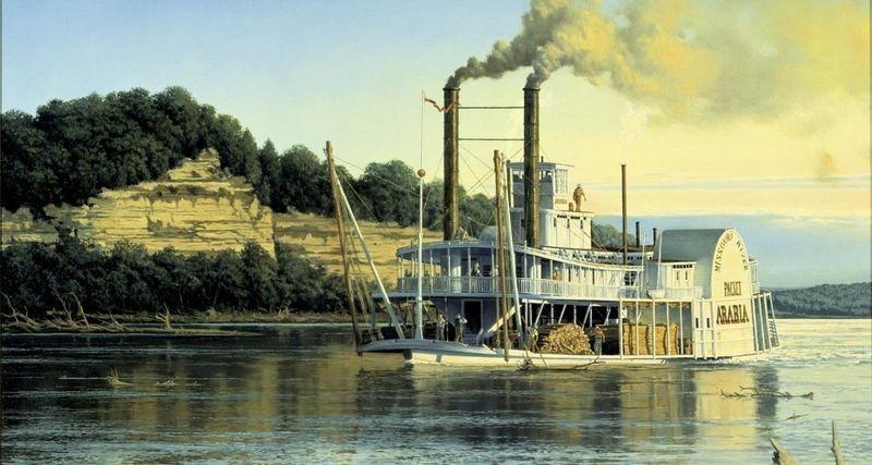 Удивительные случаи в истории:  пароход под кукурузным полем