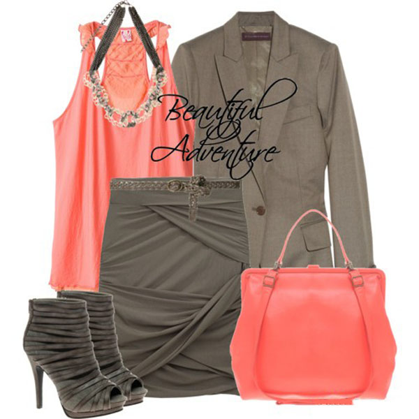 Коралловый цвет в одежде: варианты сочетаний