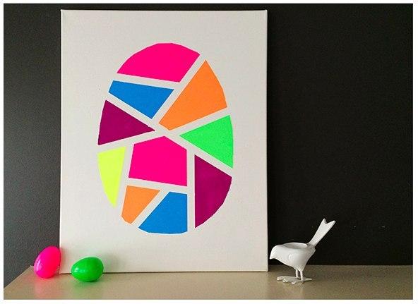 Детская территория. Картина с пасхальным яйцом