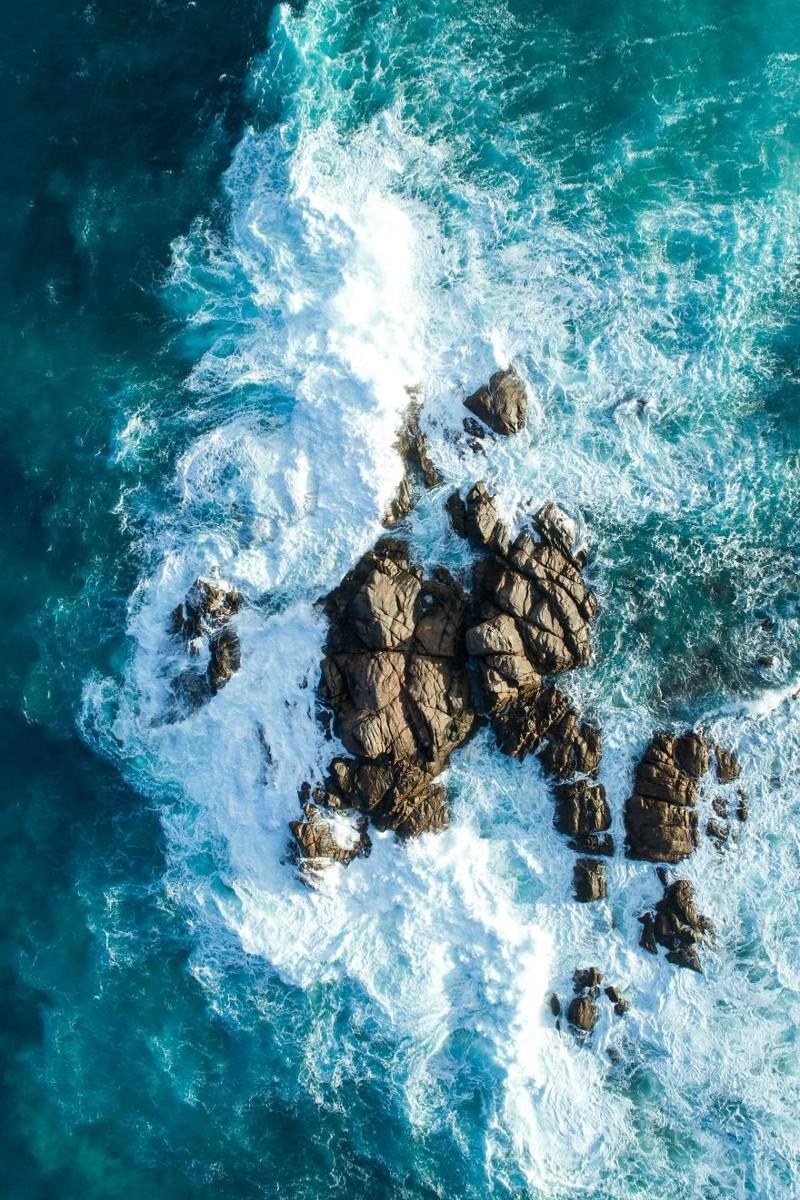 Океанский прибой австралия, где зимой рай, зима, красота, мягкий климат, пейзажи, тепло, фото