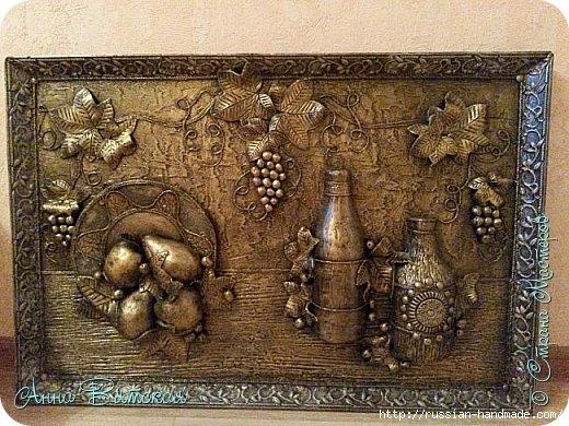 Объемное панно, имитирующее бронзовую композицию