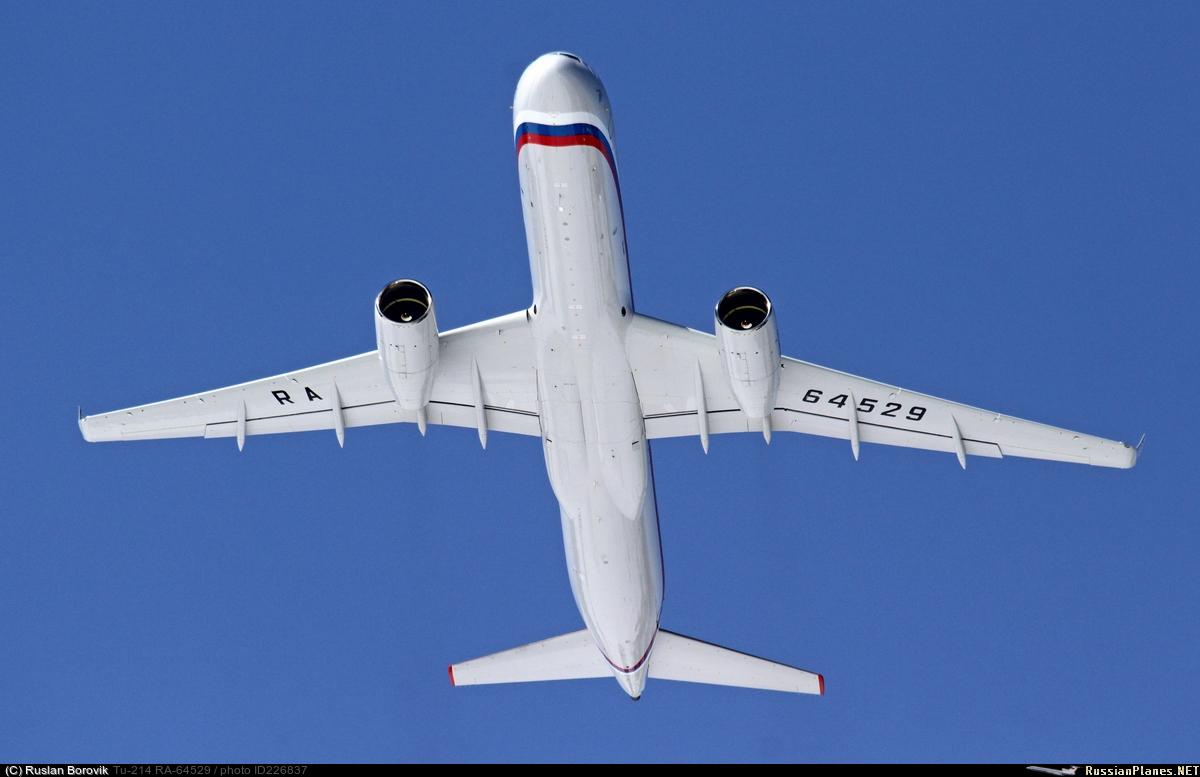 Министерство обороны России получило первый самолет Ту-214ПУ-СБУС