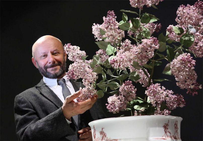 Фарфоровые цветы от украинск…