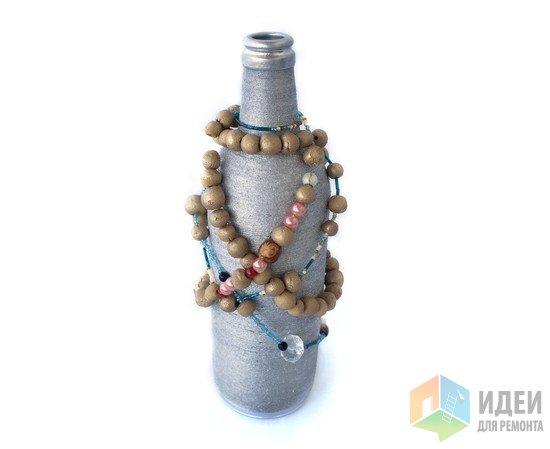 Декор бутылок шпагатом, декор своими руками