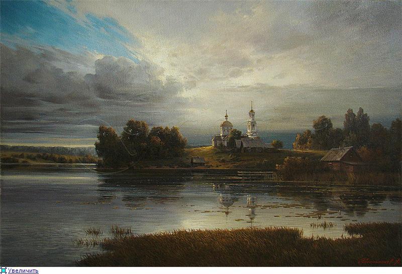 Таинственный свет солнца на картинах художника Дмитрия Колпашникова красиво, россия, талант, художник