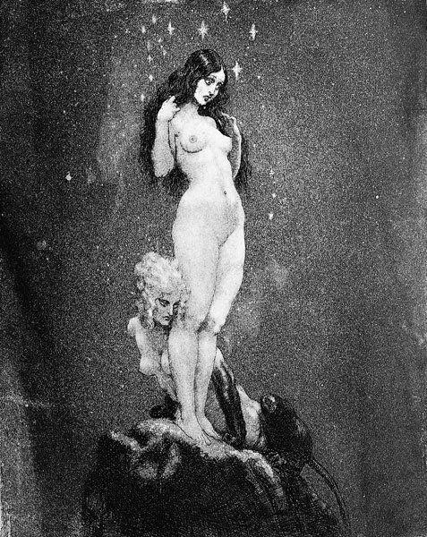 Прелестные нимфы, козлоногие обольстители и демоны в картинах Нормана Линдсея 22