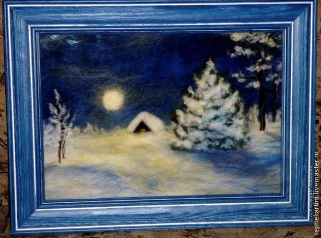Зимний пейзаж картина своими руками