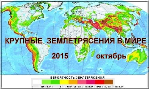 Крупные землетрясения в мире…