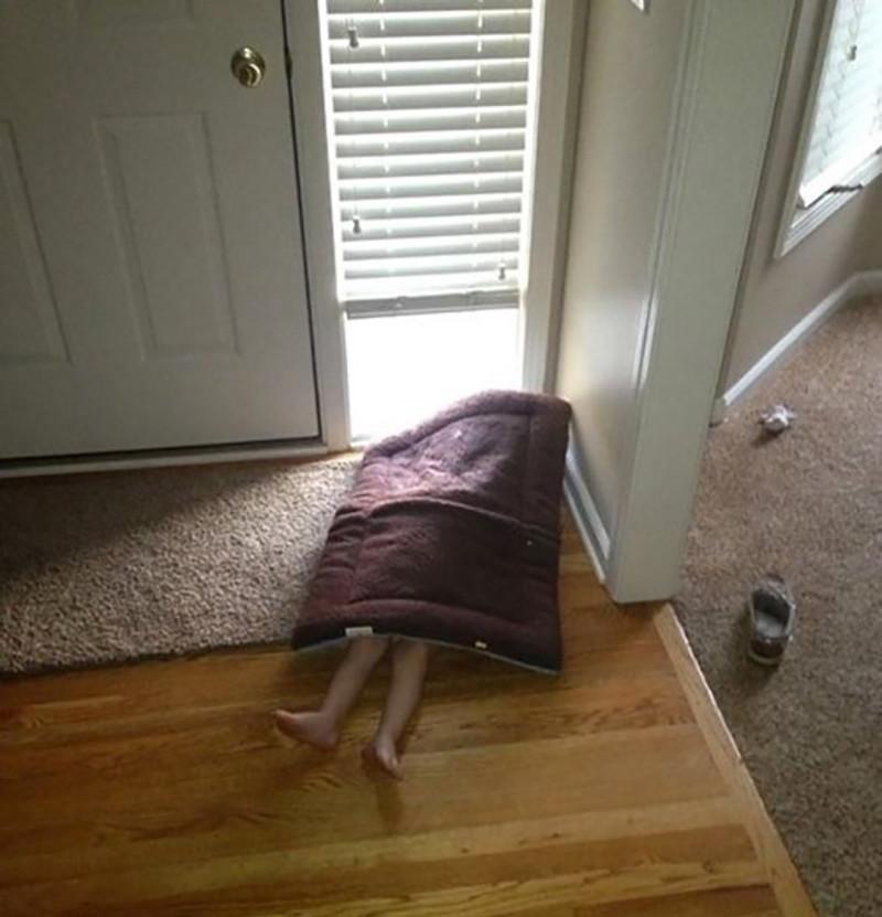 15. Ищите внимательно, только не вытирайте ноги о коврик!!! дети, прятки