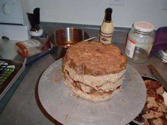 Как приготовить торт из мяса  на день рождения  для любимого