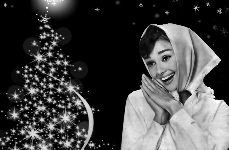 Новогодняя Одри Хепберн