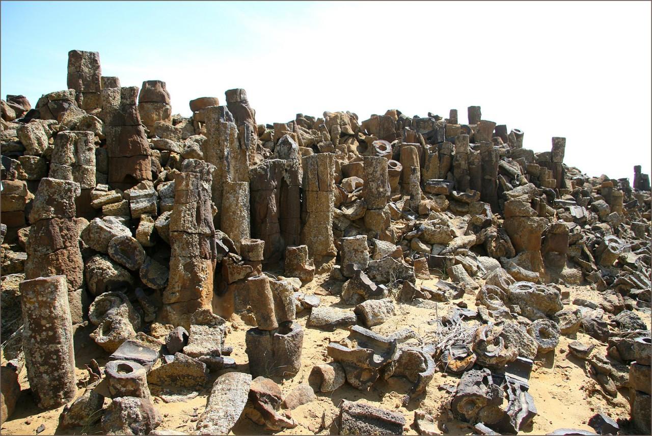 Фантастический Каменный лес Джаракудука. Учкудук, Узбекистан.