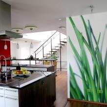 Идеи интерьера кухни с фотообоями-5