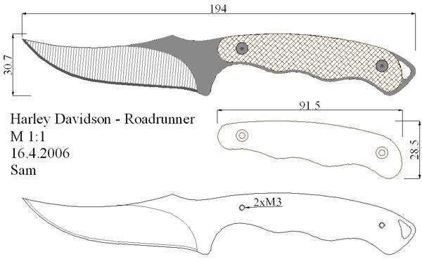 Ножи. Чертежи