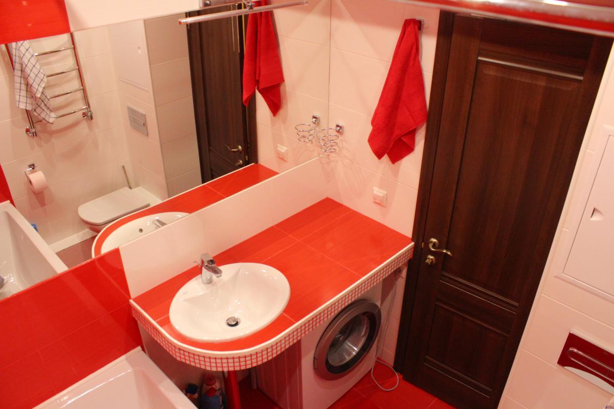 Дизайны маленькой ванной с машинкой