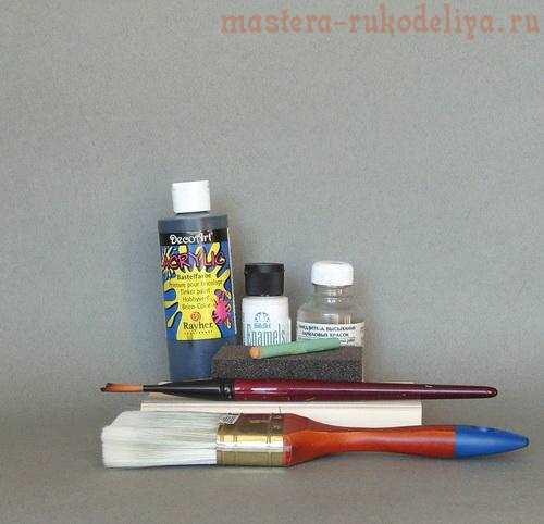 Мастер-класс по росписи: Малахитовый фон