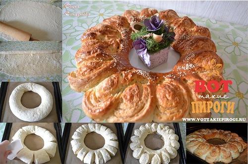украшения для пирогов из теста фото