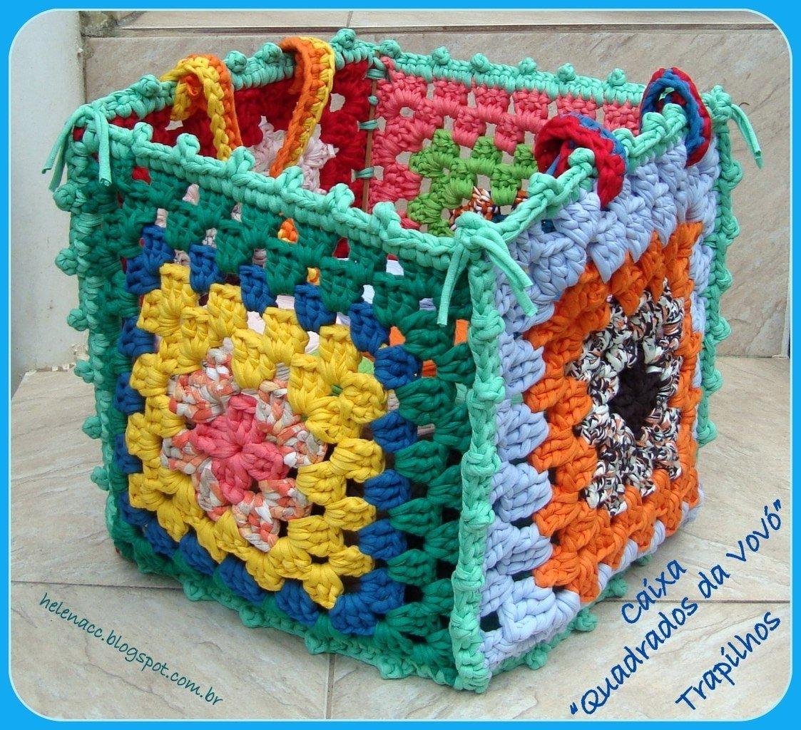 Вязанные корзины для игрушек своими руками