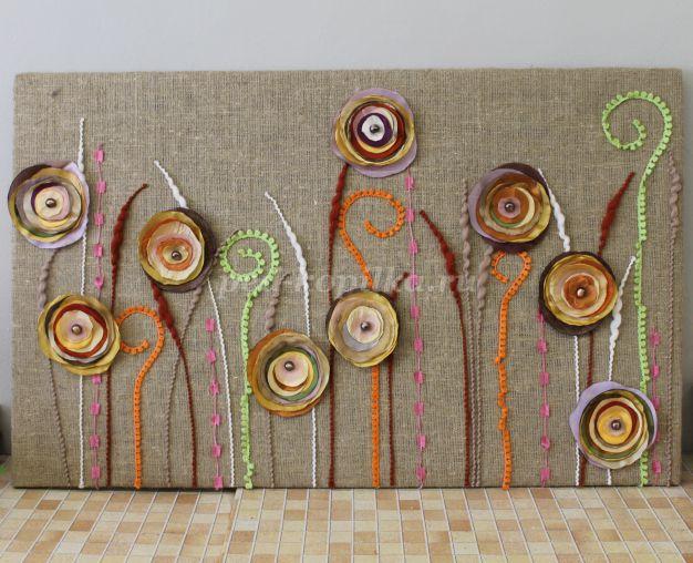 Как сделать на стену панно из ткани