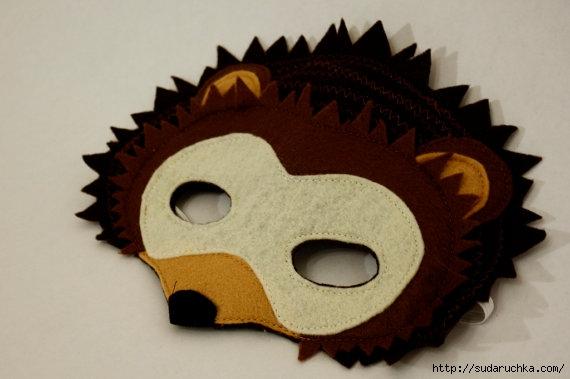 Как сделать маску ёжика из бумаги своими руками