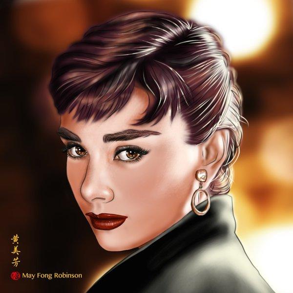Нарисованная Одри