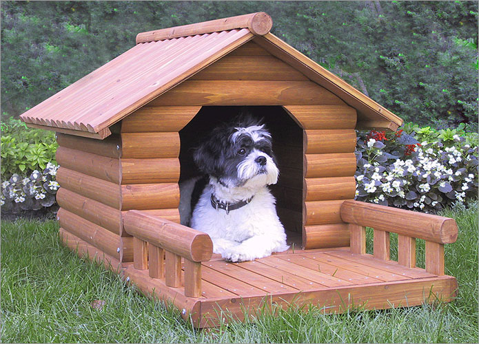 Домик для собаки своими руками фото