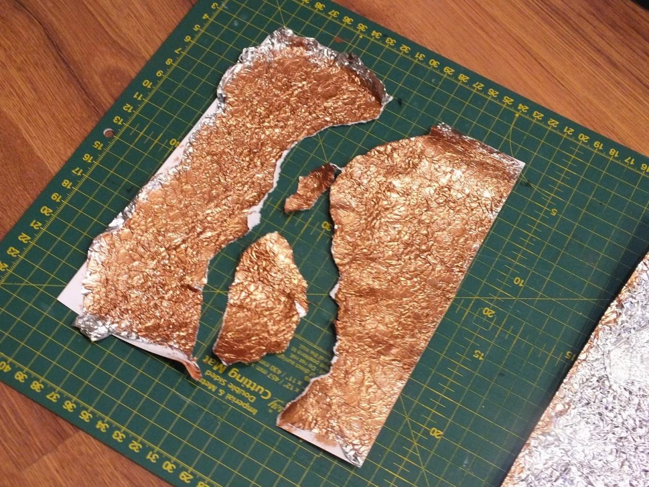 Cостаренный металл из фольги