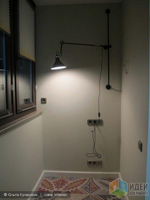 Светильник на балконе