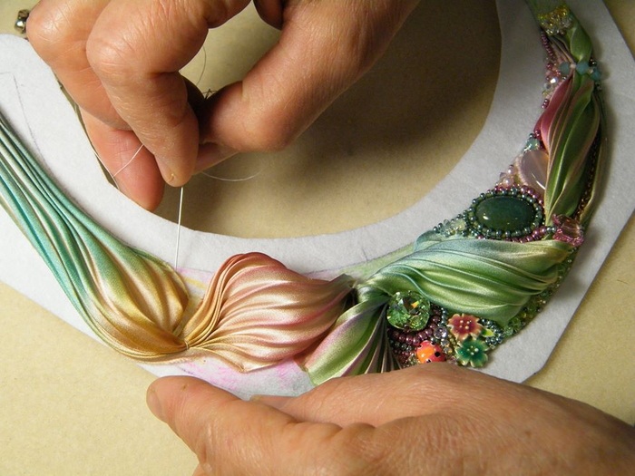 Как сделать ленту шибори своими руками