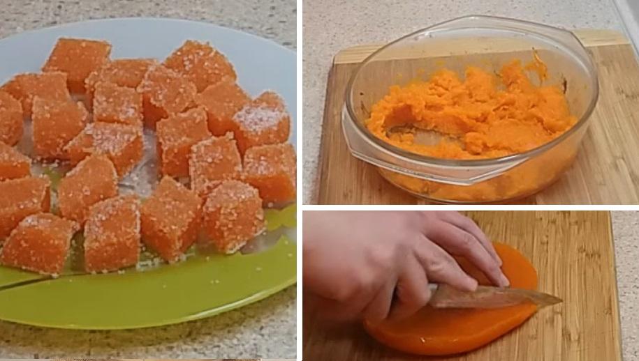 Вкусное осеннее лакомство — домашний мармелад из тыквы