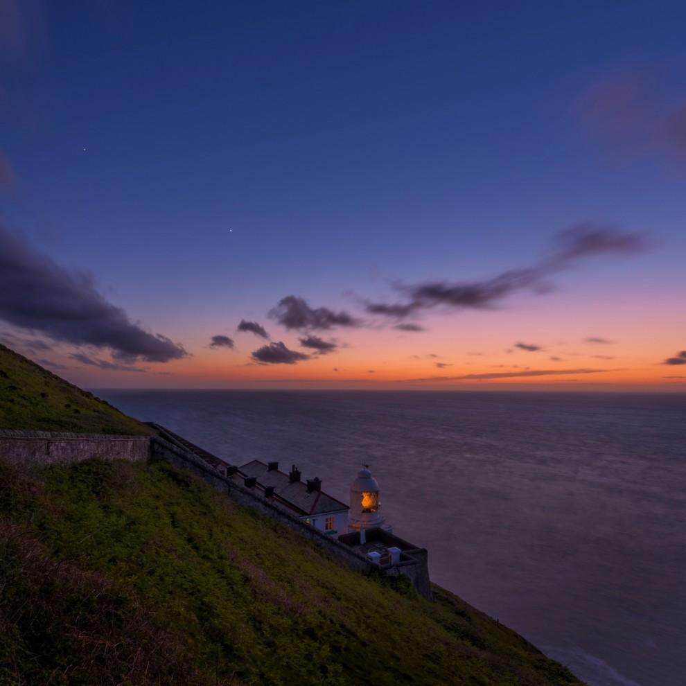 Романтичные закаты на английском побережье